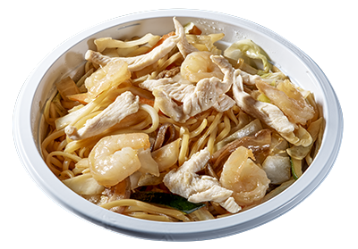noodles di gamberi pollo e verdure